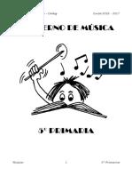 Cuaderno 5º musica