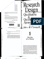 5a.- Creswell, John. Cap. 6. the Use of Theory.