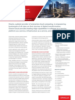The Complete Cloud and Next-Generation Platform For Business - Oracle Fact Sheet