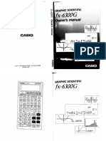 Casio Fx 6300g Users Manual 119427