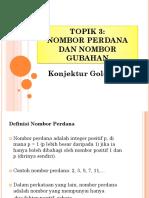 TOPIK 3 Konjektur Goldbach