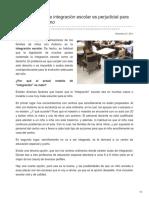 Autismodiario.org-Un Mal Modelo de Integración Escolar Es Perjudicial Para El Niño Con Autismo