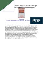 Lecciones Propedeuticas de Filosofia Del Derecho (4ª Ed.)