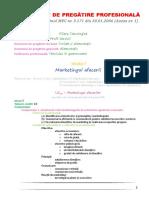 SPP Clasa a XI-A - Alimentatie - Modul I