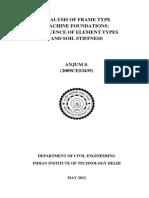 Analysis of Frame Type Machine Foundations Thesis-shagufta