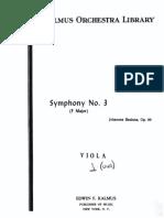 21. Brahms Johannes - Symphony 3, Violin 2