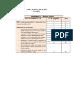 Tabla de Especificación Mat Ter