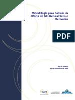 EPE, 2016 - Nota Técnica Metodologia Gás Natural Seco e Derivados