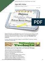 Bacharel Em Teologia 100% Online - Portal Da Teologia _ Portal Da Teologia