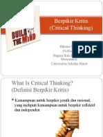 Berpikir Kritis-Prof Bhisma Murti