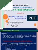 Valorización y Formula Polinomica