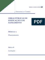 Obras Publicas Edificacao Saneamento Modulo1 Aula4