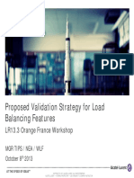 05 LR13.3 ORF Workshop Proposed Validation Strategy for Load Balancing Features
