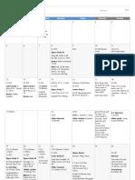 February Training Diary