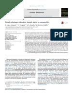 Female plumage coloration signals status to conspecifics.pdf
