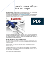 Backlinks Youtube Gerando Tráfego – Tráfego Natural Para Sempre