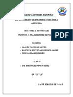 Práctica Caja de cambios y sistema diferencial de un automóvil y un tractor agrícola.