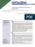 Programa de terapia miofuncional orofacial para indivíduos submetidos à cirurgia ortognática