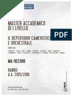 264 Scheda Master MA RECORD Bando