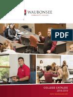 Waubonsee Catalog 2018-2019