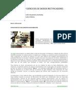 Analisis y Ejercicios de Diodos y Rectificadores de Media y Onda Completa Con Teoria
