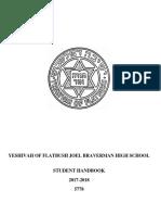Student Handbook 2017- 2018