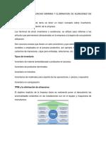 Control de Existencias Minimas y Eliminacion de Almacenes en Tpm