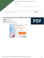 Advanced Login Module VB.net & SQL Server _ Free Source Code, Tutorials and Articles