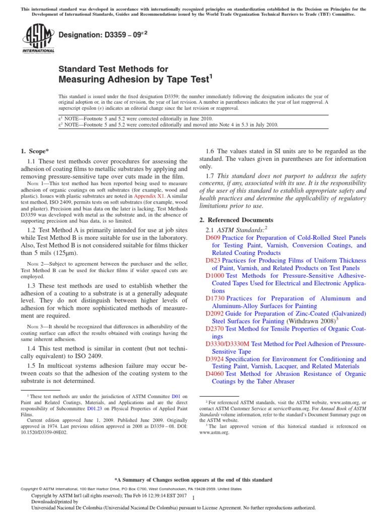 ASTM D3359-08 PDF