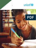 Que Estan Haciendo Las Empresas Por La Ninez en El Peru UNICEF Deloitte