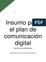 INFORME Insumo Para El Plan de Comunicación Digital