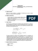 Laboratorio (Sistemas Transitorios, Enfriamiento Global o de Resistencias Concentradas)