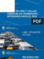 Metro de Lima Vision de Un Transporte Integrado AATE