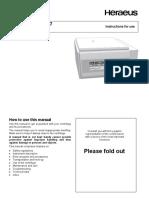 Heraeus Biofuge Primo R - User Manual