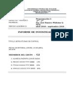 Informe de Investigacion - Estructuras de Control