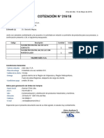 Cotización gfsdg- agsgsdg316-18 Tacometros