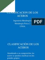 Clasificaciòn de Los Aceros III Reg