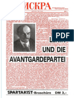 Lenin und die Avantgardepartei