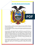 31 de Octubre Día Del Escudo de Ecuador