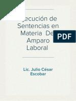 Ejecución de Sentencias en Materia de Amparo Laboral
