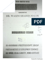 Wasim Shahid Macroeconomics Growth Theories Notes