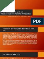 Acerca de los trabajadores deportistas venezolanos (LOTTT)