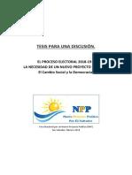 El Proceso Electoral 2018-19. El Salvador