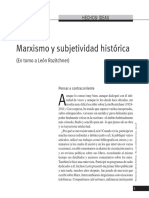 Kohan, N. (2015) Marxismo y Subjetividad Histórica (en Torno a León Rozitchner)