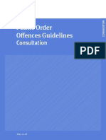 Public Order Offences Guideleines Consultation