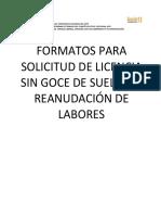 Licencias Sin Goce de Sueldo. 5