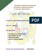 Resumen Ley de Gauss