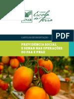 Pnae Cartilha Previdencia Social e Senar