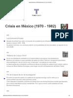 Crisis en Mexico