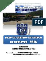 Plan de Gestion Del Riesgo de Desastres .Rhr.2016